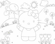 Hello Kitty online coloring page online j�t�k